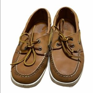 LL Bean Brown leather Boat Shoes